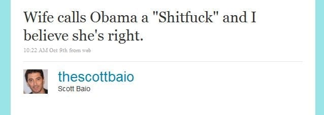 Aw, Scott Baio is MAD Now.