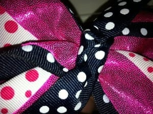 centerknotglue 300x2242 How To Make a Rockin Cheer Bow