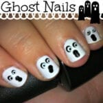 Ghost Nail Art From Totally The Bomb.com