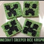 Minecraft Rice Krispies Perfect for a Minecraft Birthday