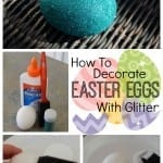 How To Decorate Easter Eggs With Glitter