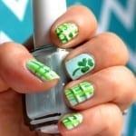 Plaid St. Patricks Day Nails 150x150 St. Patricks Day Nail Art Ideas