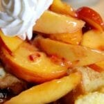 French Toast With a Peach Compote