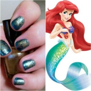How to Paint Little Mermaid Nails by TotallytheBomb.com