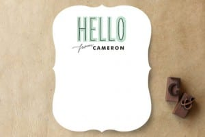 Personalized Stationary from Minted