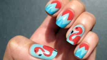 Flamingo Nails from Nailslide