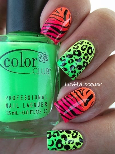 5 awesome nail designs neon nails from luv my lacquer prinsesfo Choice Image