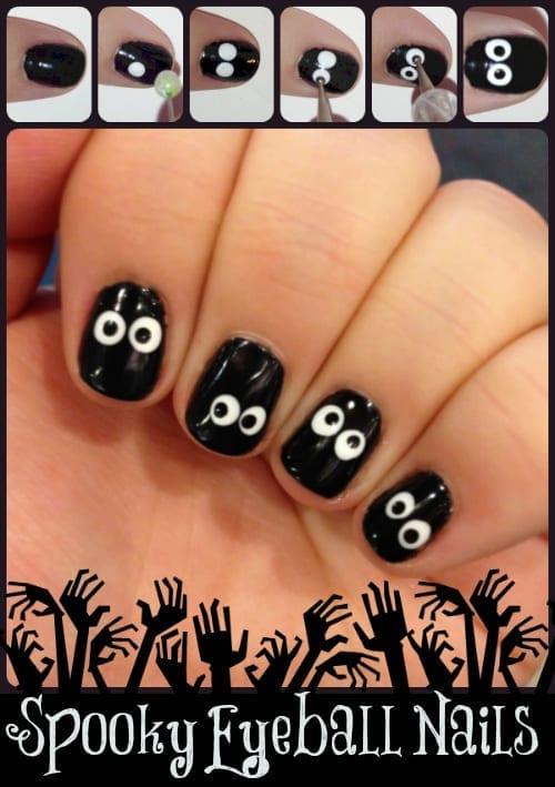 Spooky Eyeball Nails from TotallytheBomb.com