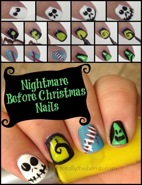 How To Paint Nightmare Before Christmas Nails by TotallyTheBomb - How To Paint Nightmare Before Christmas Inspired Nail Art