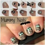 Halloween Mummy Nails from Totally The Bomb