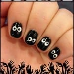 Spooky Eyeball Nails by Totally The Bomb.com