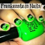 Frankenstein Nail Art from Totally The Bomb.com
