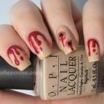 Vampire Bite Nails