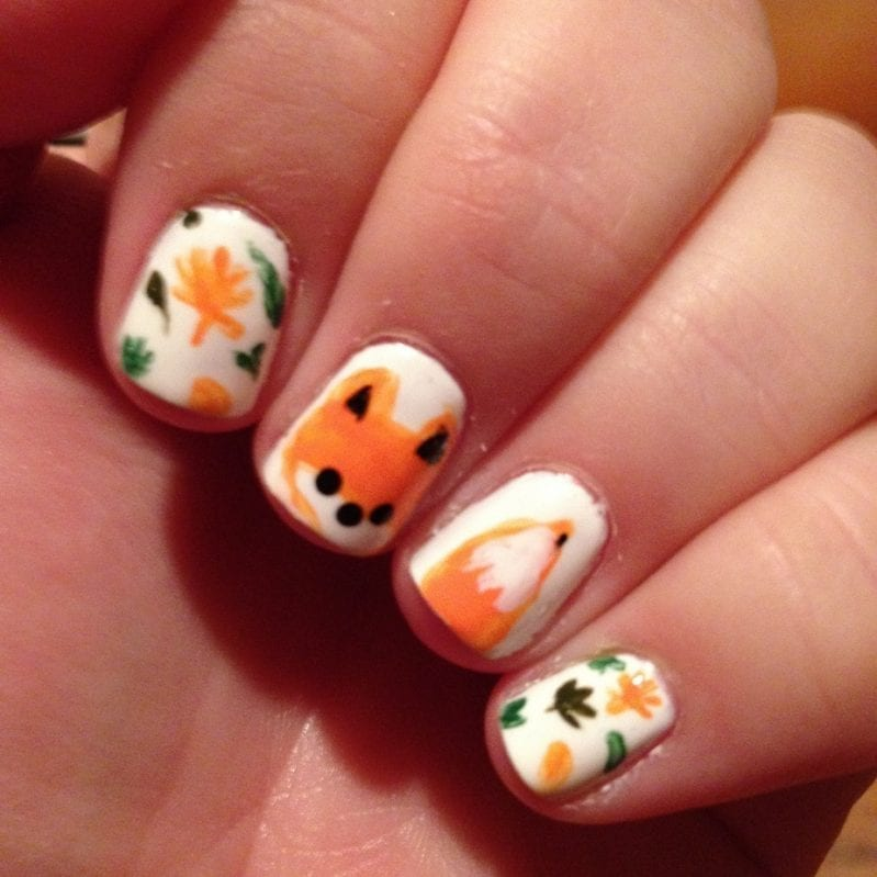 Fox Nails by @jamieharrington on Instagram