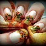 Thanksgiving Flower Nails by My Makeup Mania