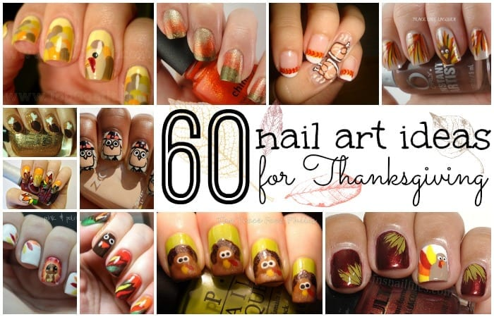 60 easy thanksgiving nail art ideas 60 nail art ideas for thanksgiving prinsesfo Choice Image