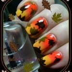 Autumn Leaves Nail Gradient by Pointless Cafe