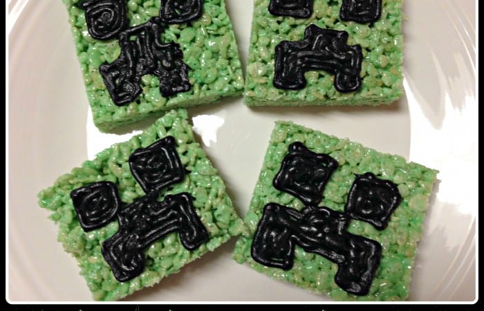 We Made Minecraft Creeper Rice Krispies