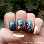 Gold Turkey Nails by Manic Manis