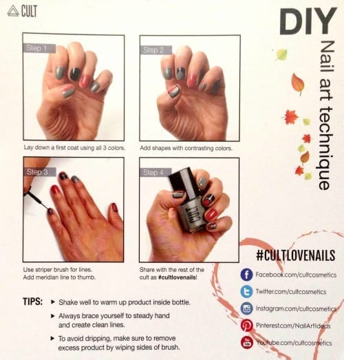 Cult Blackbox Nail Art tutorial