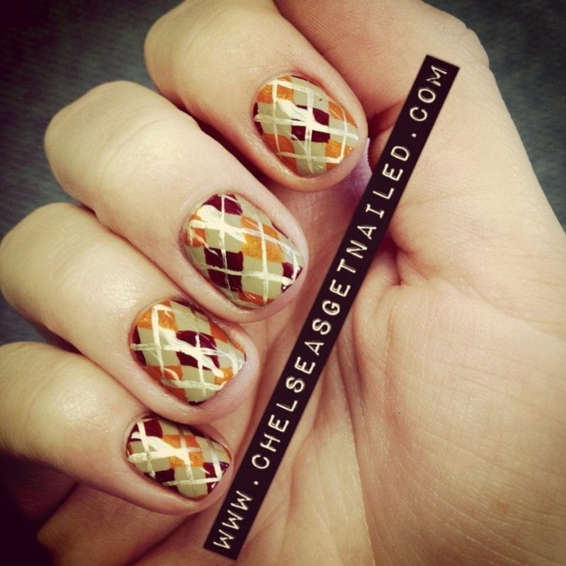 Thanksgiving Argyle Nals by Chelsea Queen
