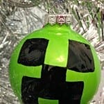 Make a Minecraft Creeper Christmas Ornament