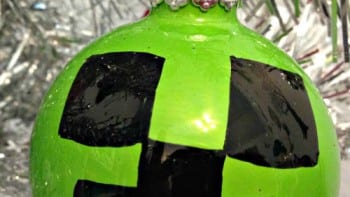 Minecraft Creeper Christmas Tree Ornament