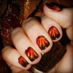 Thanksgiving Feather Nails by Colorado Fashion