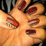 Herringbone Fall Nails by Bijou Love
