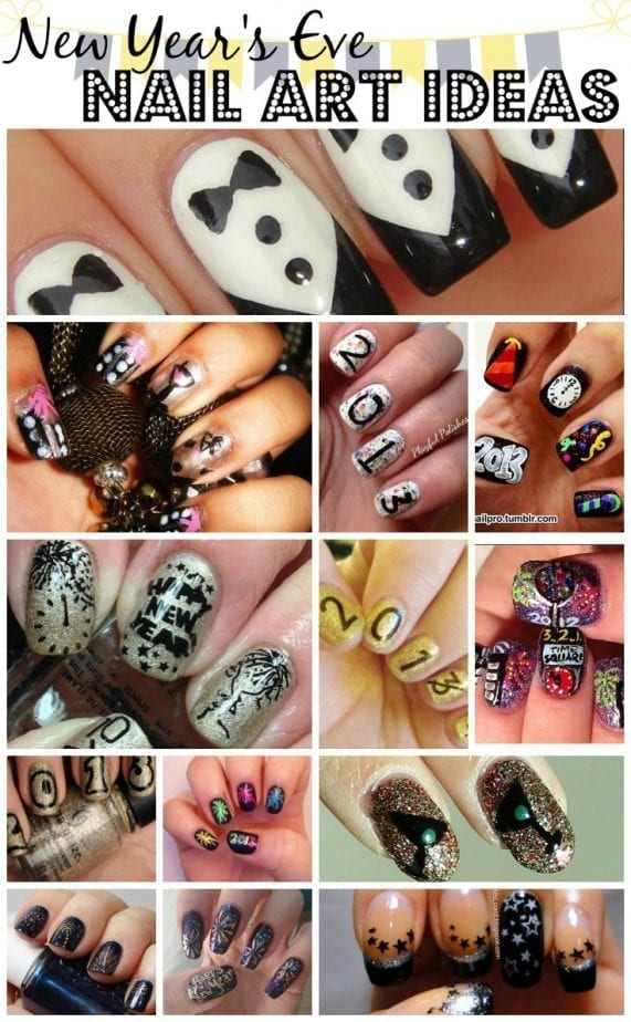 New Year's Eve Nail Are Ideas