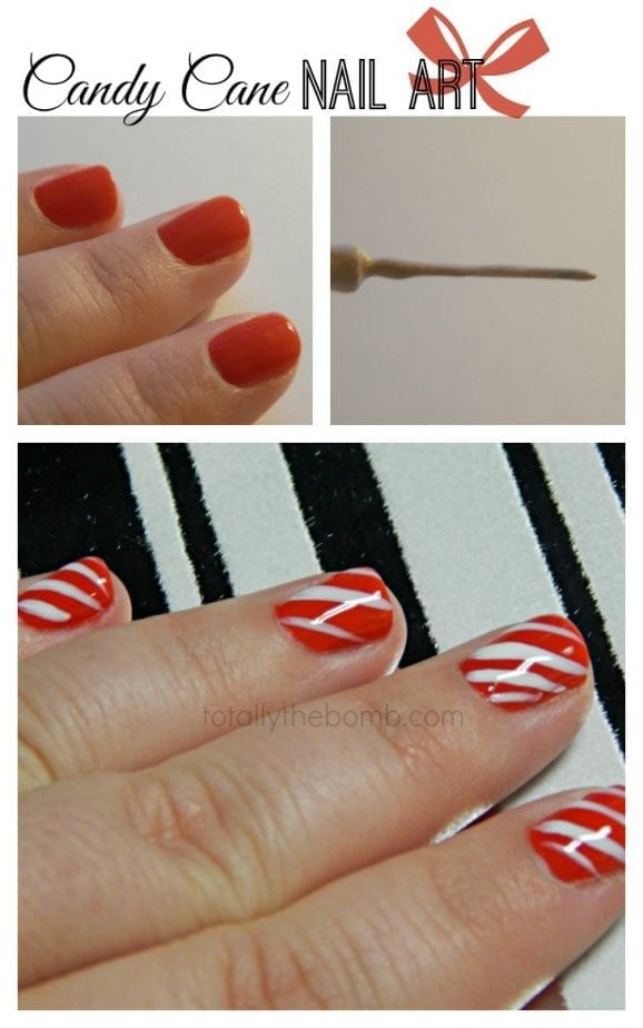 Candy Cane Nails by Totally The Bomb
