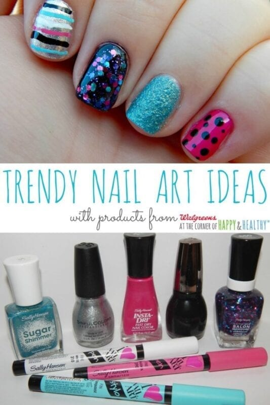 Trendy Nail Art Ideas from Walgreens #CBIAS #SHOP #walgreensbeauty