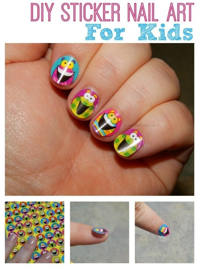 Diy silly sticker nail art for kids prinsesfo Choice Image