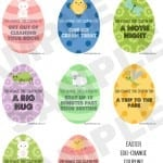 Free Printable Easter Egg-Change Coupons