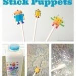 Make Sticker Stick Puppets