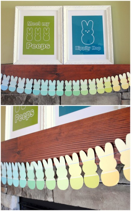 easter mantle collage