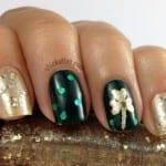 St patricks day nail art ideas gold shamrock nails prinsesfo Gallery