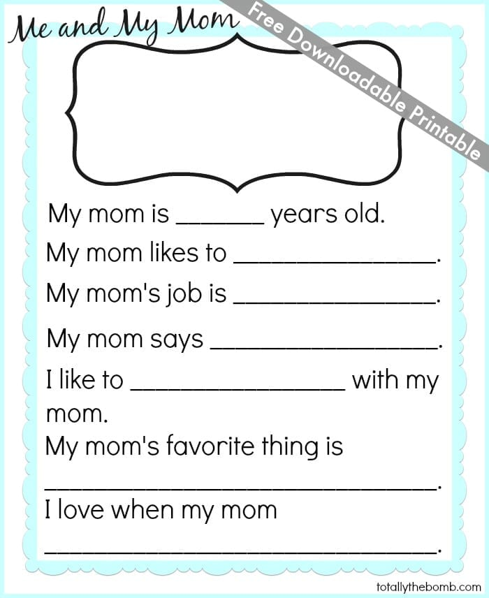 image regarding Mother's Day Printable referred to as Free of charge Moms Working day Printable