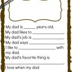 free printable fathers day card