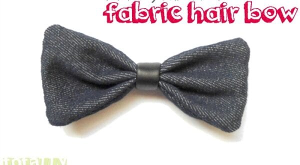 Make Your Own Fabric Hairbow
