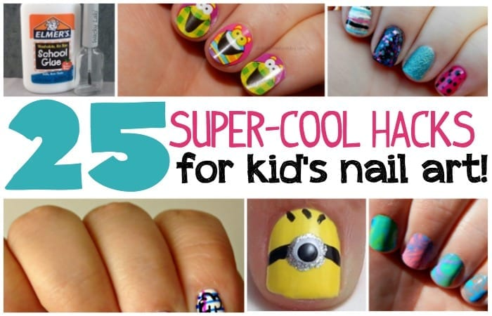 25 Kid\'s Nail Art Hacks
