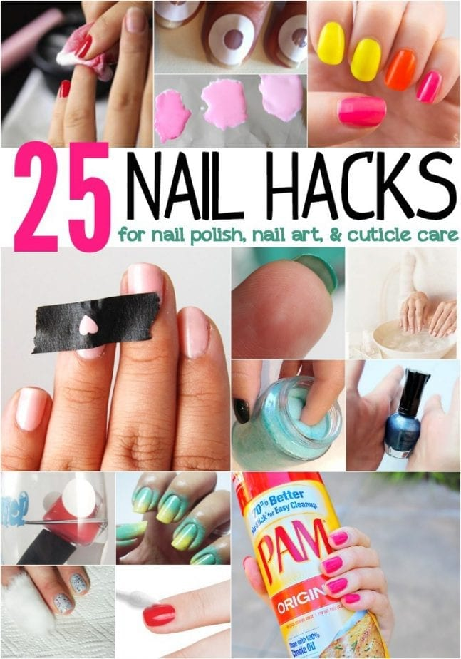 25 nail hacks for nail polish nail art cuticle care prinsesfo Gallery