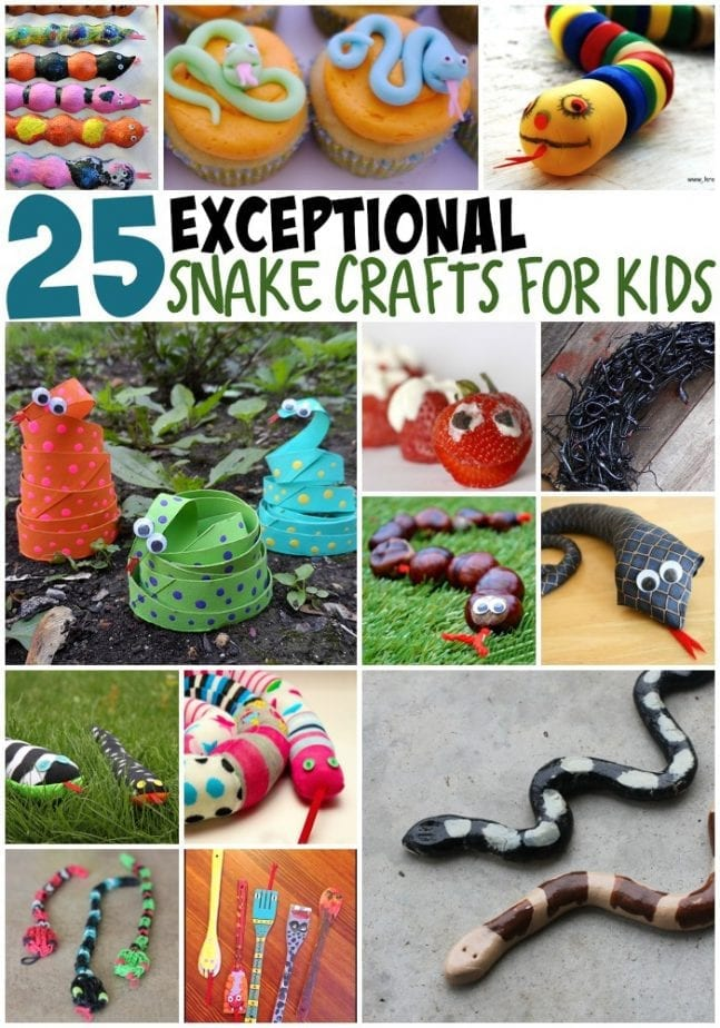 25 snake crafts for kids