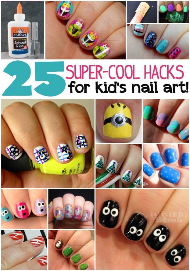 25 super cool hacks for kid's nail art - 25 Kid's Nail Art Hacks