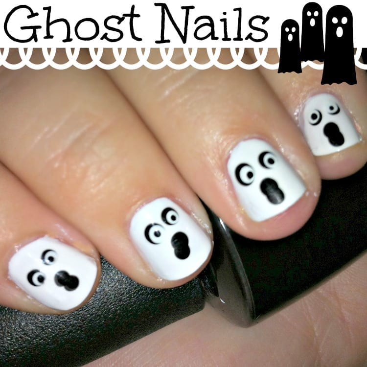 Halloween Ghost Nails - Halloween Ghost Nail Art
