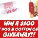 Win A $100 Hot Dog And Cotton Candy Giveaway!