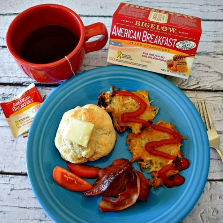 Hashbrowns {A Fast and Simple Homemade Recipe Great with Bigelow Tea}
