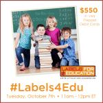 Twitter Party Alert!  #Labels4Edu – 10/7 11:00 AM ET