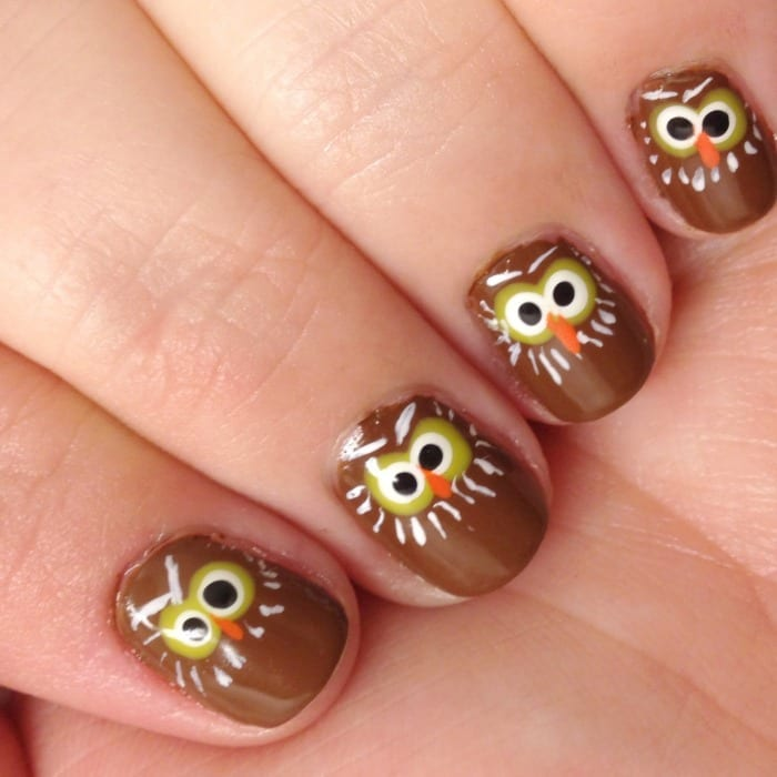 owl nails square