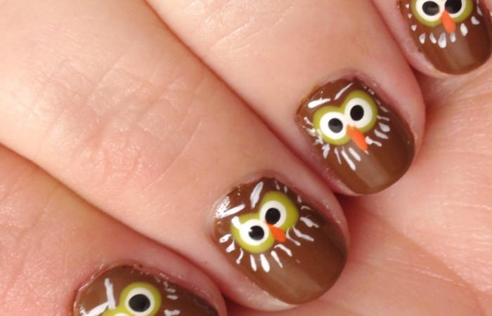Paint Owl Nails